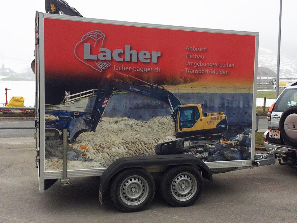 Maschinenpark, Transport, Materialanhänger Unsinn LK, Lacher Bagger AG