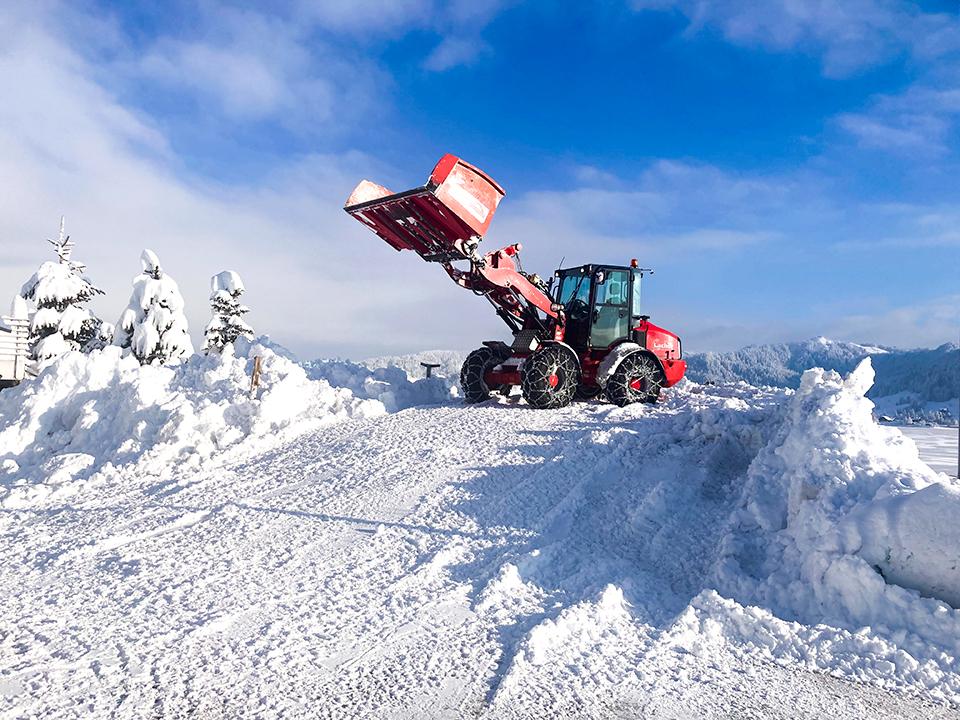 Schneeräumung, Lacher Bagger AG